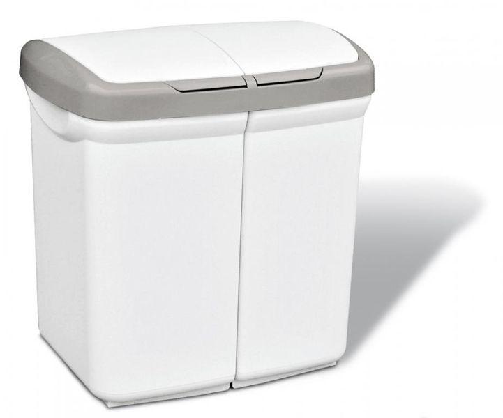 Meliconi Dvoukomorový odpadkový koš ECOBIN 50 l