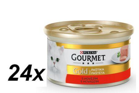 Gourmet Gold paštika s hovězím 24 x 85 g