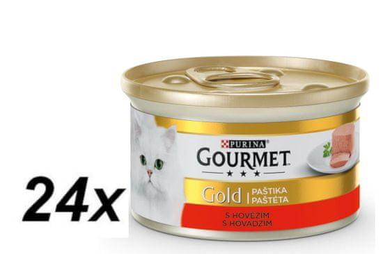 Gourmet Gold paštéta s hovädzím 24 x 85 g