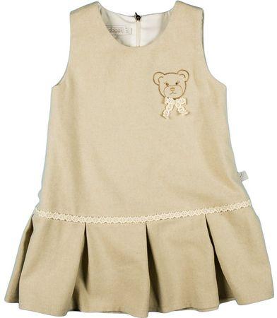 MMDadak dekliška obleka Medvedek, 86, svetlo rjava