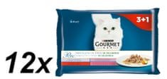 Gourmet saszetki dla kota Gourmet Perle multipack - mięsne fileciki z warzywami, 12x (4 x 85g)