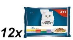 Gourmet saszetki dla kota Gourmet Perle multipack - mięsny duet, 12x (4 x 85g)