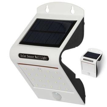 IQTECH Aql solární venkovní světlo, 20 + 2 LED, pohybový sensor, bezdrátové, bílé
