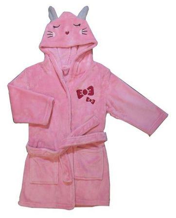 Carodel dekliški kopalni plašč, roza, 92