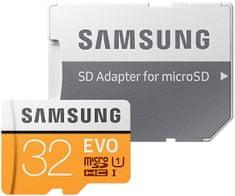 Samsung Micro SDHC 32GB (Class 10 UHS-I) + SD adaptér (MB-MP32GA/EU)