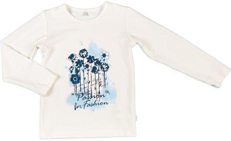 MMDadak dívčí tričko Květiny 80 biela
