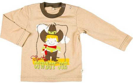 MMDadak chlapecké tričko Kovboj 98 hnedá