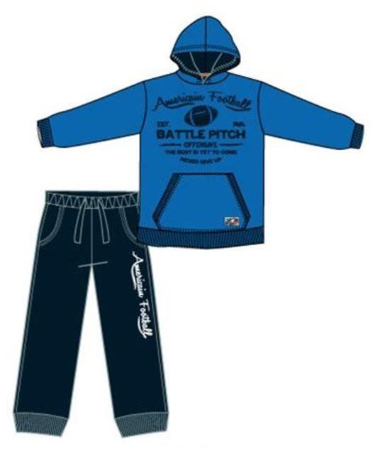 Carodel chlapecká tepláková souprava 92 modrá