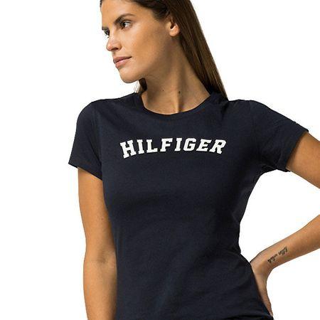 Dámske tričko s krátkym rukávom Cotton Iconic Logo SS Tee Print UW0UW00091-416  Navy Blazer d24fc61e042