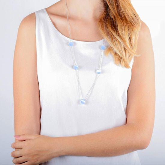 Morellato Lepa ogrlica, okrašena z mačjimi očmi Gemma SAKK09 srebro 925/1000