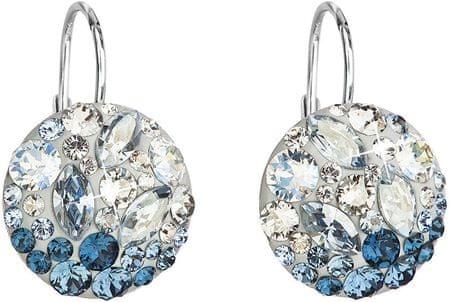 Evolution Group Kolczyki srebrnego kryształu 31176.3 Ice Blue srebro 925/1000