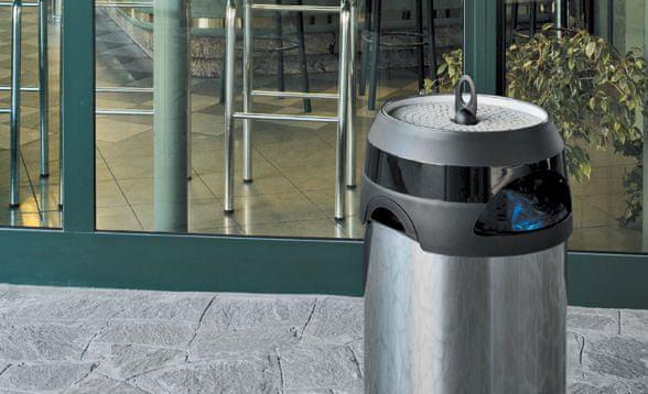Meliconi Odpadkový koš s popelníkem 60 l, nerezová ocel - rozbaleno