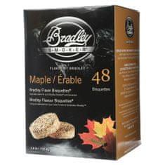 Bradley Smoker Javor 48 ks - Brikety udící