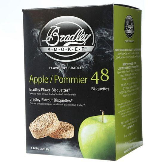 Bradley Smoker Jabloň 48 ks - Brikety udící