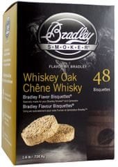 Bradley Smoker Whiskey Dub 48 ks - Brikety udící
