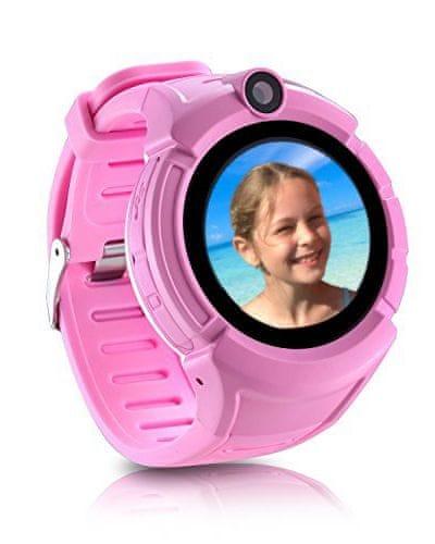 Carneo dětské smart hodinky s GPS GUARDKID+ PINK