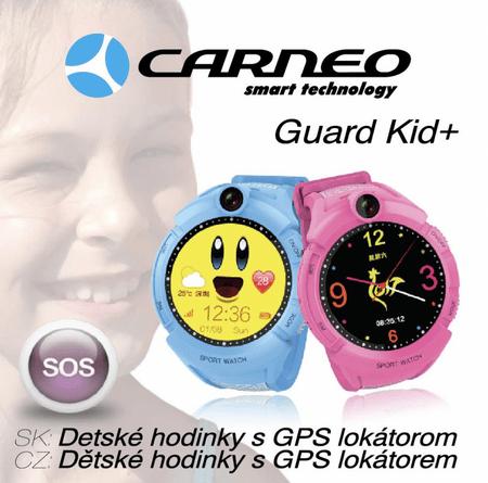 Carneo dětské smart hodinky s GPS GUARDKID+ BLUE  b5e27b9b755