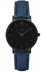Cluse Minuit Full Black Blue Denim CL30031 0619542844