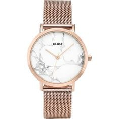Cluse LaRoche Mesh Rose Gold/White Marble CL40007