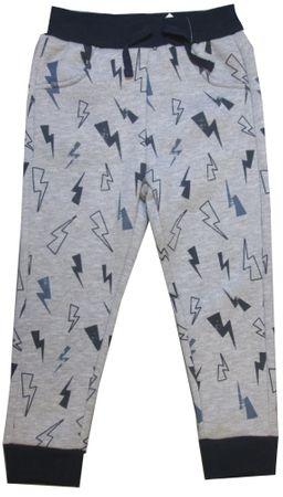 Carodel spodnie dresowe chłopięce, z błyskawicą 92 szare