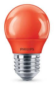 PHILIPS LED colored P45 E27 RED 1SRT4