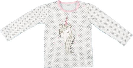 MMDadak dekliška majica Unicorn, 80, bela