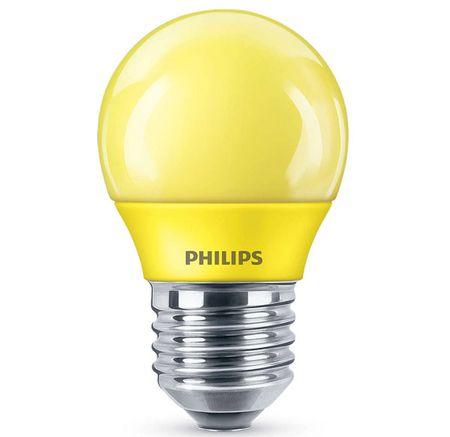 Philips LED colored P45 E27 YELLOW 1SRT4