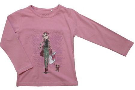 Carodel koszulka dziewczęca Shopping 92 różowa