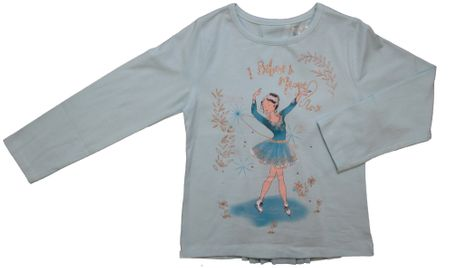 Carodel majica za djevojčice s motivom umjetničke klizačice, 92, svijetlo plava