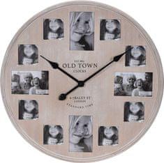 Koopman Nástěnné hodiny 60 cm, fotorámečky