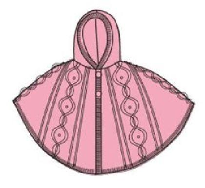 Carodel dekliški pončo, 92, roza