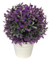 Marex Trade Dekorativní květina v květináči,20 cm šeřík