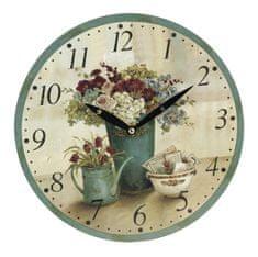 Koopman Nástenné hodiny 28 cm, kvety 1