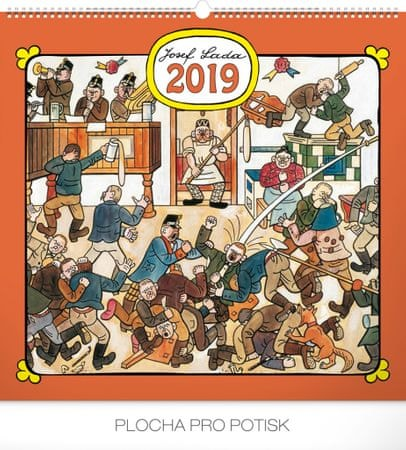Nástěnný kalendář Josef Lada – Hostinec 2019