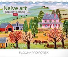 Nástěnný kalendář Naivní umění – Konstantin Rodko 2019