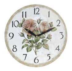 Koopman Nástenné hodiny 28 cm, kvety 2