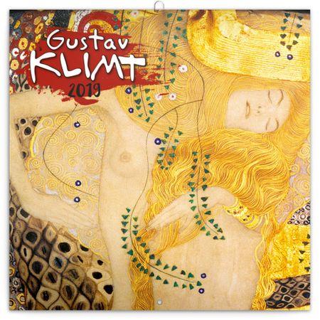 Poznámkový kalendář Gustav Klimt 2019