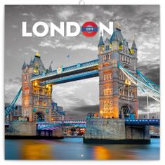 Poznámkový kalendář Londýn 2019