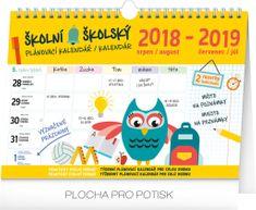 Školní plánovací kalendář s háčkem 2019