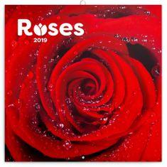 Poznámkový kalendář Růže 2019