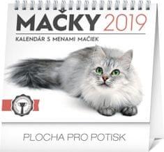 Stolový kalendár Mačky – s menami mačiek SK 2019, 16,5 x 13 cm