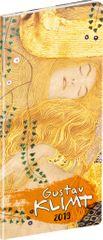 Vreckový diár Gustav Klimt SK 2019, plánovací mesačný, 8 x 18 cm
