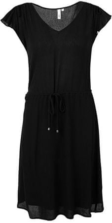 Q/S designed by Dámske čierne krepové šaty (Veľkosť 34)