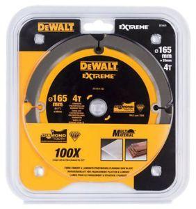 DeWalt list za krožno žago,165/20, s štirimi zobmi, za cement (DT1471)