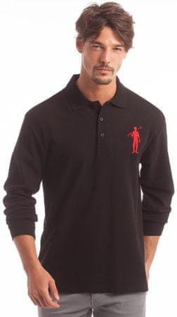 Polo Club C.H..A moška polo majica, M, črna