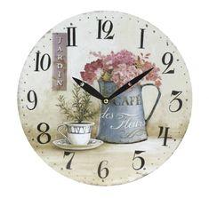 Koopman Nástenné hodiny 28 cm, kvety 4