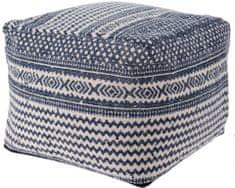 Marex Trade Taburet bavlna 45x35 cm, modrá