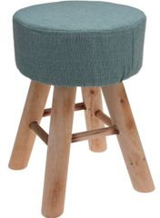 Marex Trade Taburet 30x40 cm, 4 drev. nohy, zelená pepermint