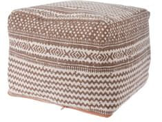 Koopman Taburet bavlna 45x35 cm, hnědá