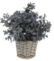Marex Trade dekoracyjna roślina z plecioną donicą, dekor 2